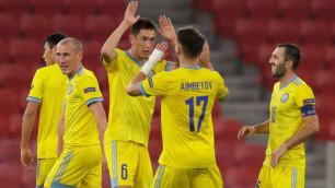 ФИФА восхитилась голом с центра поля от футболиста сборной Казахстана в матче Лиги наций