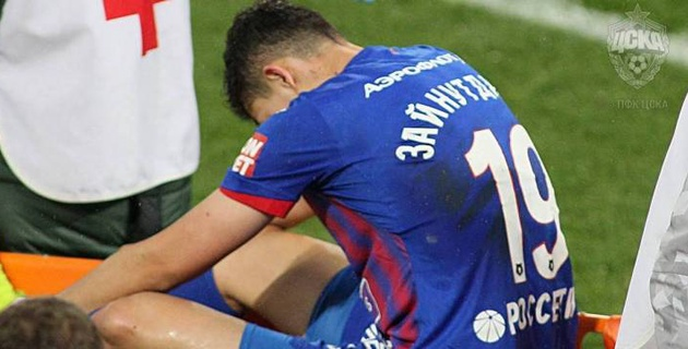 Зайнутдинов вернулся в стартовый состав ЦСКА после травмы
