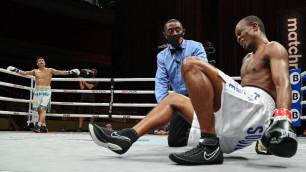 Данияр Елеусинов нокаутировал экс-чемпиона и завоевал первый титул в карьере