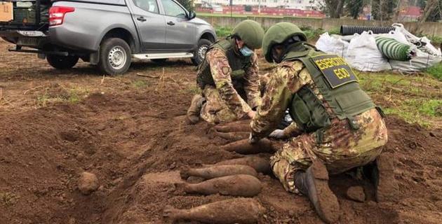"""На базе """"Ромы"""" обнаружили снаряды времен Второй мировой войны"""