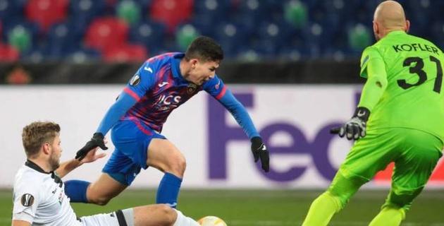 В России признали Зайнутдинова лучшим игроком ЦСКА в пятом матче Лиги Европы