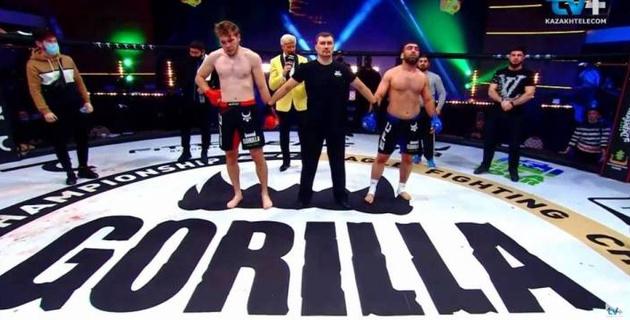 Казахстанец, который может попасть в UFC, проиграл нокаутом в первом раунде на турнире Хабиба