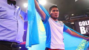 Непобежденный казахстанец выиграл 14-й бой в профи