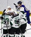 В чемпионате Казахстана по хоккею забит необычный гол