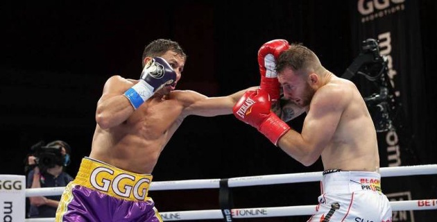 Видео четырех нокдаунов, или как Головкин нокаутировал Шеремету в бою за два титула