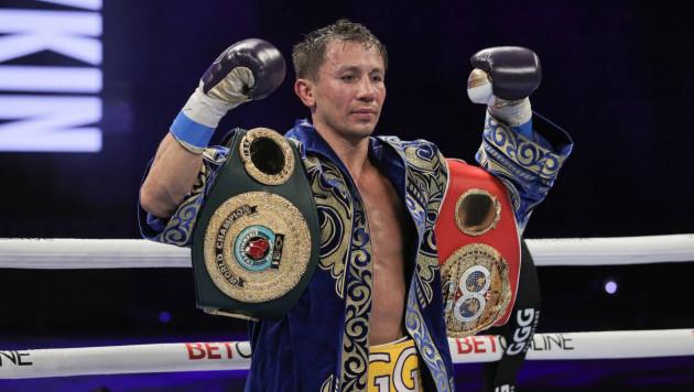 Головкин обратился к казахстанцам после победы нокаутом в бою за два титула