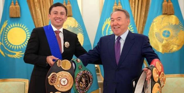 Назарбаев поздравил Головкина с рекордной защитой чемпионского титула