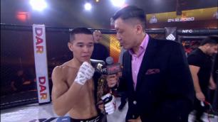 Казахстанский боец задушил соперника и завоевал пояс чемпиона NFC