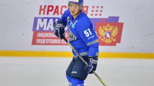 """Хоккеист из системы """"Барыса"""" исполнил зажигательный танец перед матчем"""