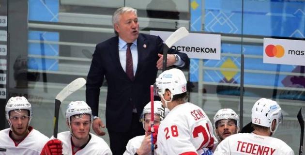 """Тренер """"Витязя"""" назвал досадным поражение от """"Барыса"""" в матче с 9 шайбами"""
