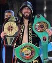 Казахстанский нокаутер Садриддин Ахмедов одержал победу в бою за три титула