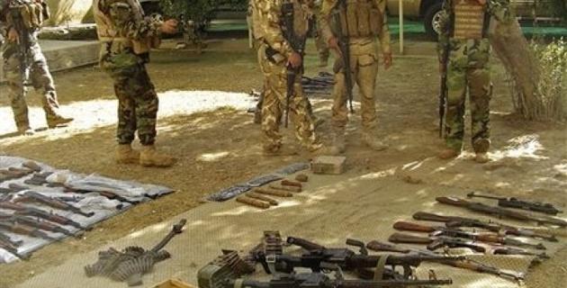 Сирийские спецназовцы обнаружили тайник с оружием у границы с Иорданией