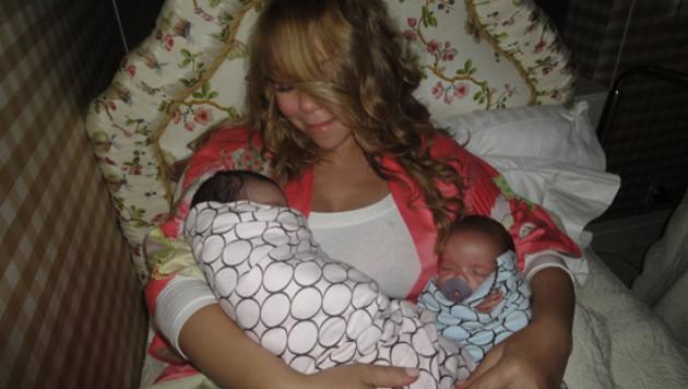 Мэрайя Кэри опубликовала фото своих двойняшек