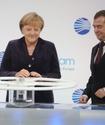 """Медведев и Меркель дали официальный старт """"Северному потоку"""""""