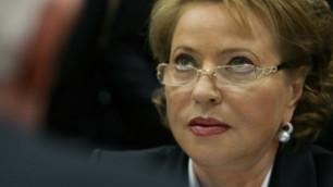 """Матвиенко попросила таджикских коллег помочь в """"деле летчиков"""""""