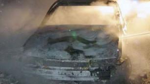 В центре Алматы сгорела Audi
