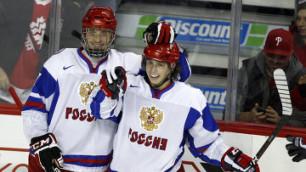 """Российская """"молодежка"""" выиграла второй матч на ЧМ по хоккею"""