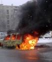 ВИДЕО: В центре Алматы полностью сгорела иномарка