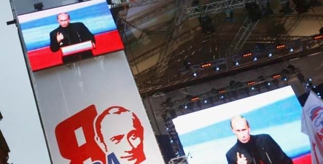 Путин проведет 200-тысячный митинг на Манежной площади
