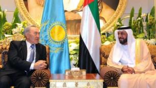 Нурсултан Назарбаев обсудил с президентом ОАЭ ситуацию в Сирии