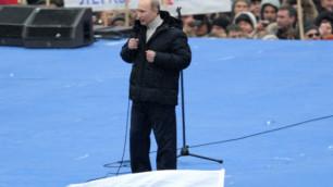 """Путин присоединился к своим сторонникам на """"Лужниках"""""""