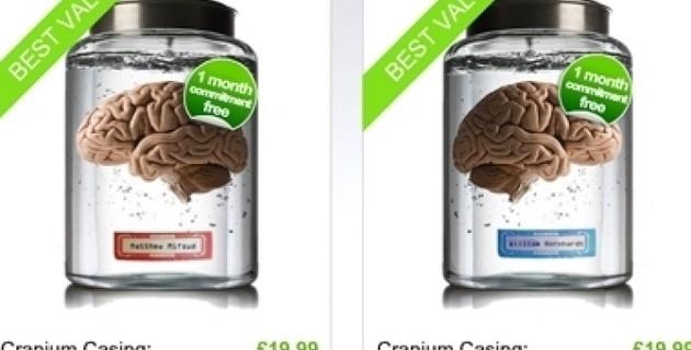 Британские копирайтеры выставили свои мозги на аукцион