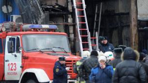 Число погибших в пожаре на рынке в Москве достигло 17