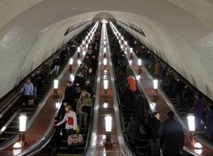 Из-за сбоя эскалатора в московском метро пострадали десять человек