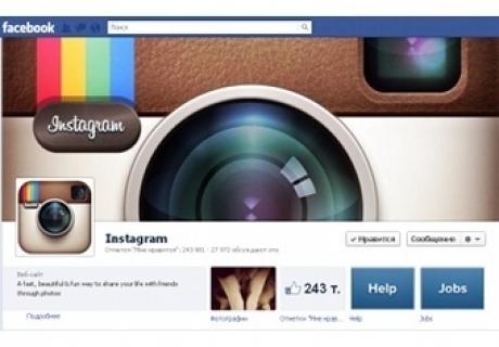 Скриншот страницы Instagram в Facebook