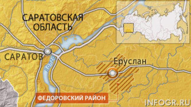 Магистральный газопровод взорвался в Саратовской области