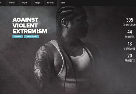 Принтскрин с сайта Against Violent Extremism.