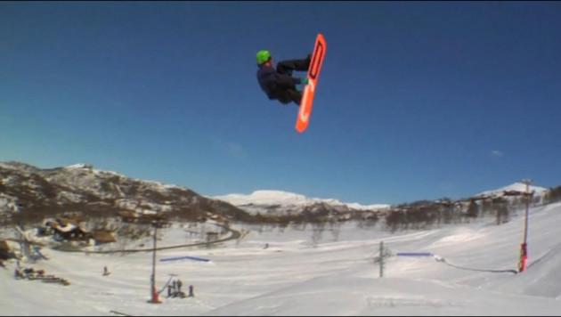Норвежский сноубордист сделал уникальный трюк