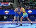 Видео сенсационной победы казахстанского борца над двукратным олимпийским чемпионом из России