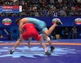 Видео второй быстрой победы 20-летнего казахстанского борца на ЧМ-2019 и выхода в полуфинал